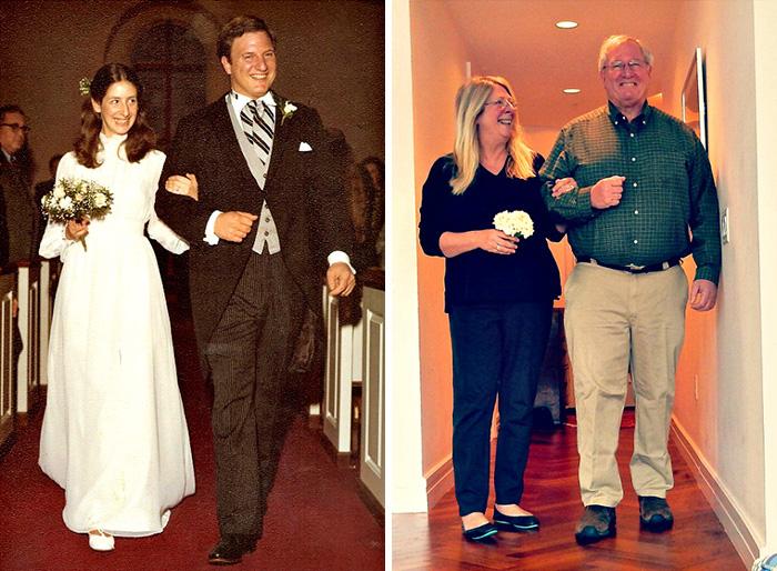 se casaron en 1978 y recrearon la foto