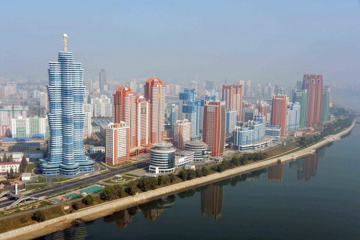 estructura de los edificios en Corea del norte