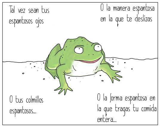 rana hablando