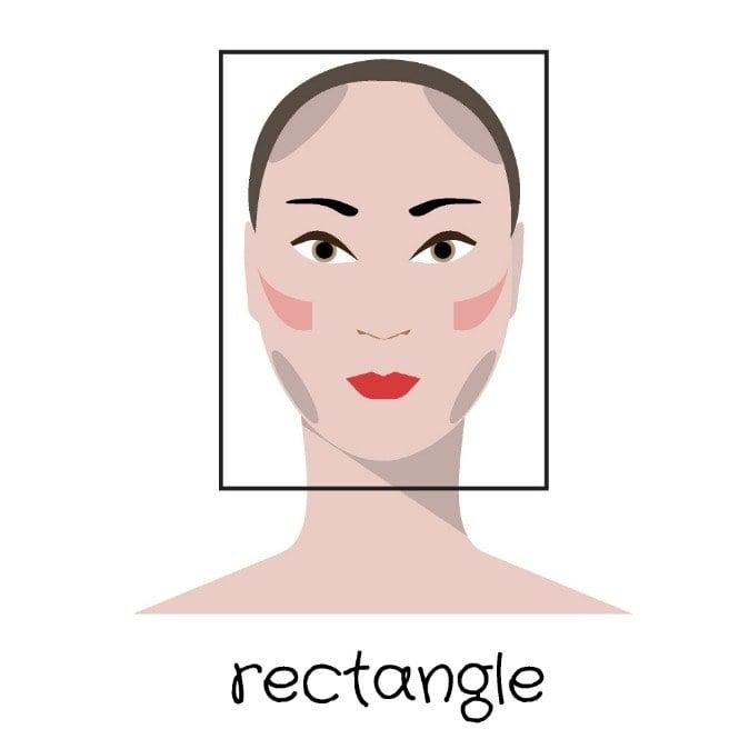 Imagen que muestra el tipo de rostro con forma rectangular
