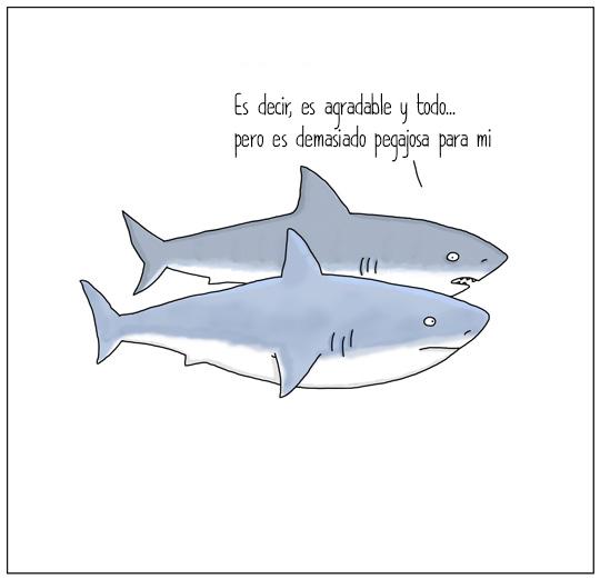 tiburones hablando
