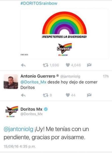 Doritos rainbow, desde hoy dejo de comer Doritos