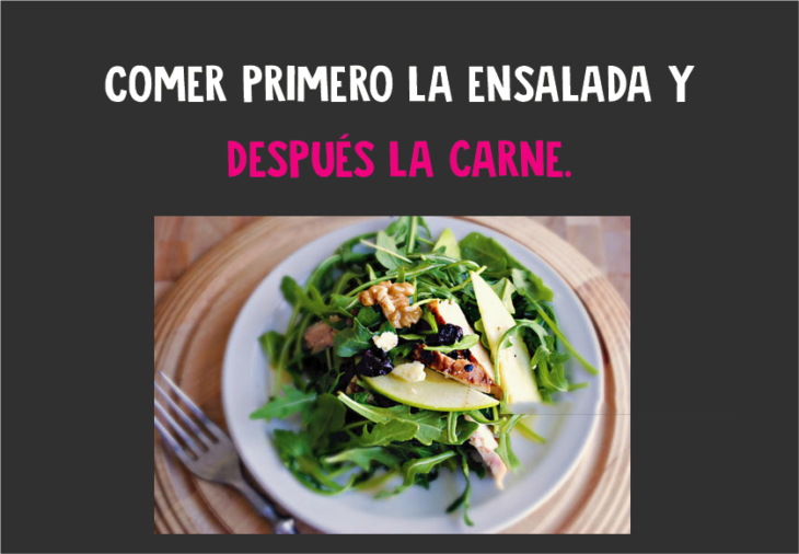 Comer primero la ensalada