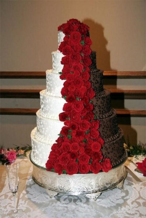 black white and red wedding cake ideas 18 pasteles de boda con los que tanto 233 l como ella amar 225 n 11901