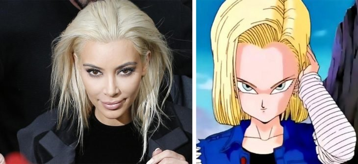 Parecido personajes caricaturas.. Kim Kardashian-y Número-18 de Dragon Ball Z