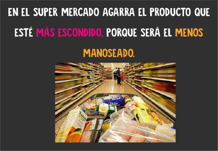 En el Super Mercado agarra el producto más escondido