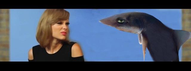 Tiburón con Taylor Swift
