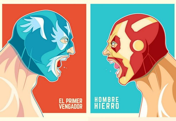 el vengador vs. iron man, póster.