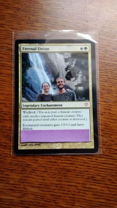 tarjeta de la unión eterna