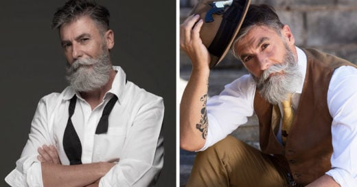 Hombre de 60 años se vuelve modelo gracias a su barba