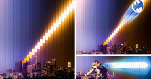Batalla de la foto de la luna de Los Angeles, California
