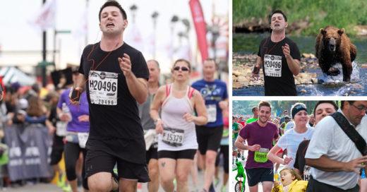 Corrió maratón con tapón en la nariz e Internet lo trolleo