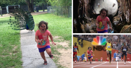 niñita intentó huir de un Pavo Real e Internet la trolleó