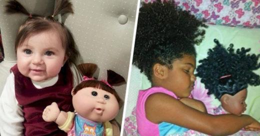 Bebés que se parecen a objetos curiosos