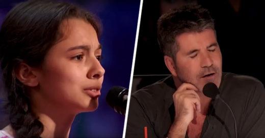 Niña impresiono a jueces de un concurso de canto con su talento