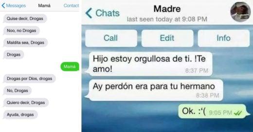 Mensajes de texto entre padres e hijos