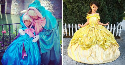 Diseñador hace hermosos disfraces de princesas para sus hijos de alta costura