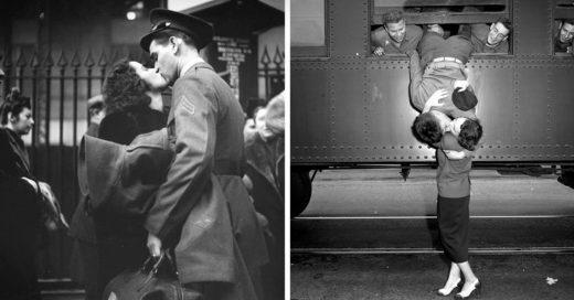 Fotografías que muestran el amor en los tiempos de guerra