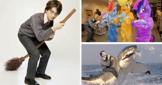 Encuentran foto vieja de Harry Potter e Internet la trollea