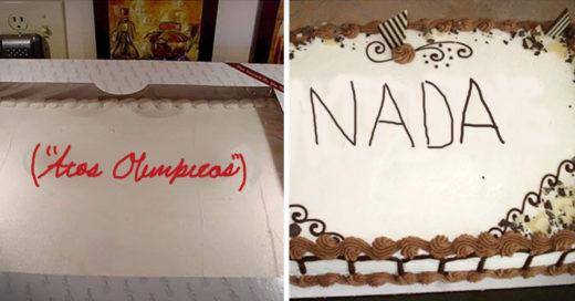 Desastrosas decoraciones de pastele