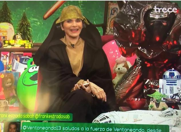 Paty Chapoy vestida de Yoda
