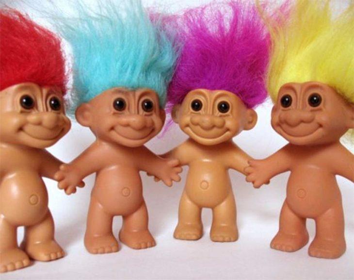 Trolls pelos de colores