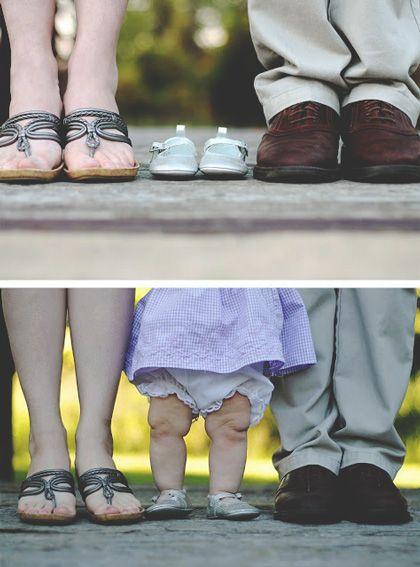 Familia de bebe y papás