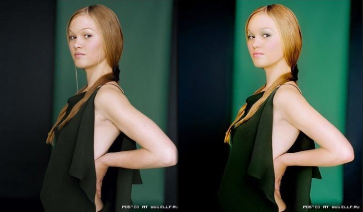 Foto mujer vestido verde