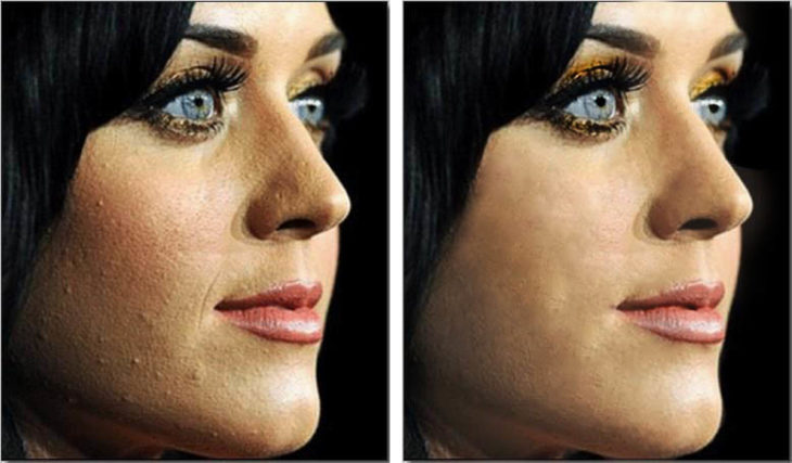 Katy Perry mal maquillaje