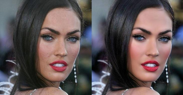 Megan Fox labios rojos