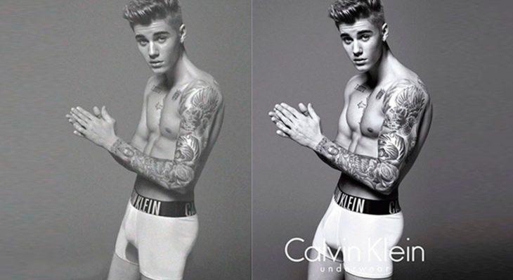 Justin Bieber calzones blancos
