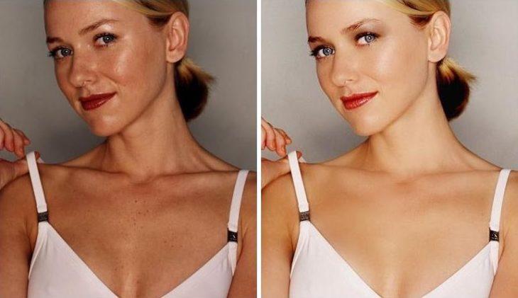 Naomi Watts vestido blanco
