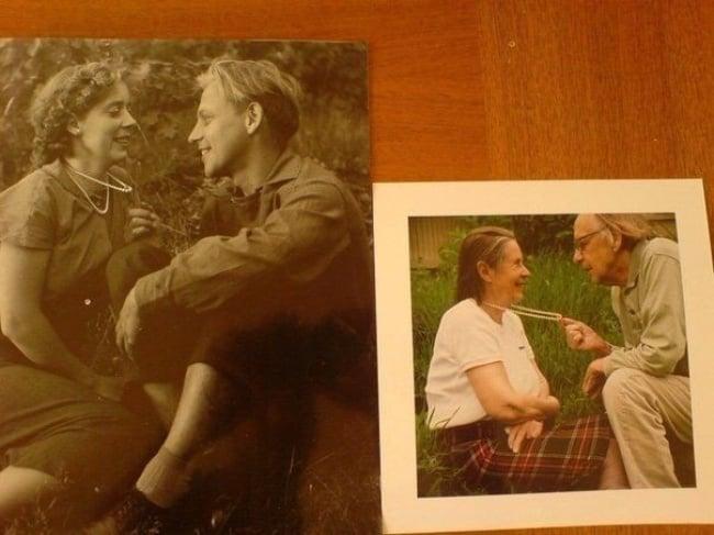 Foto de pareja de enamorados de mucho tiempo
