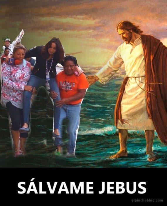 con el meme de jesucristo
