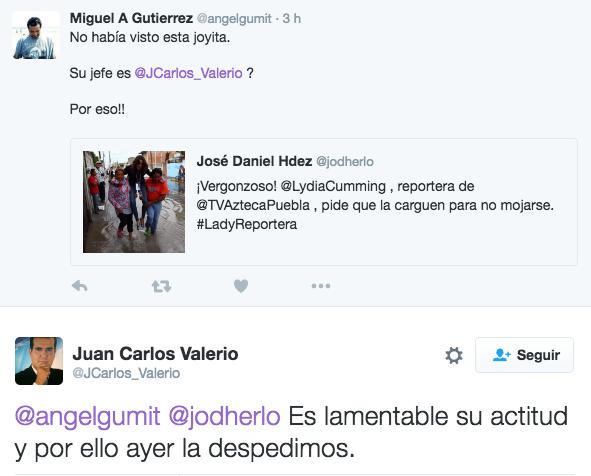 JEFE CON EL TUIT DICIENDO QUE YA ES´TA DESPEDIDA