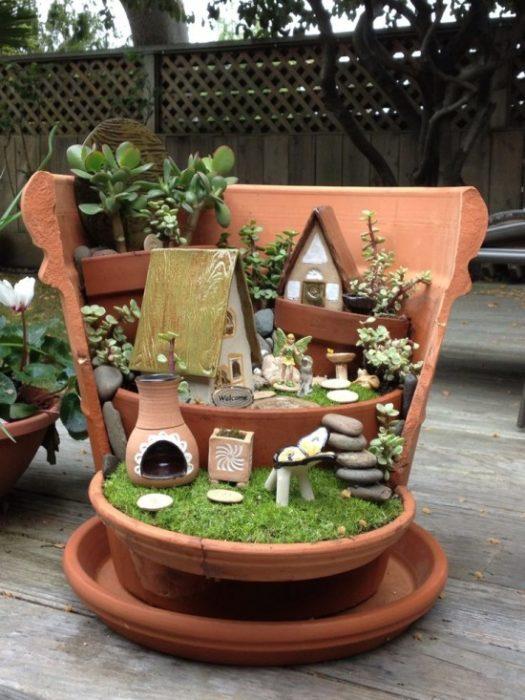 jardín miniatura de maceta rota 4