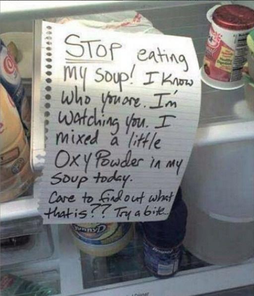 un mensaje claro para el ratero de las sopas