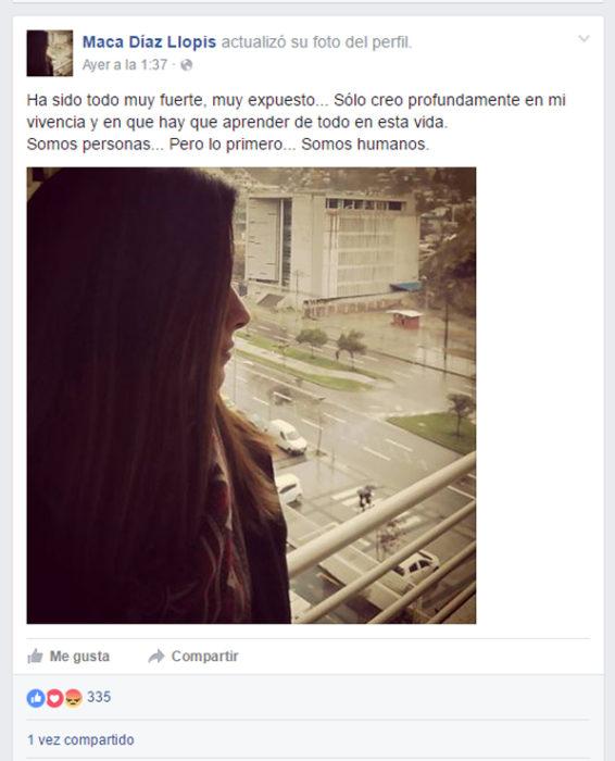 Foto de perfil de facebook de maca díaz llosa