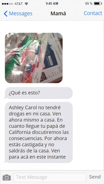 Ashley Carol no quiero drogas en casa