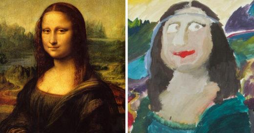 Niños recrean pinturas famosas