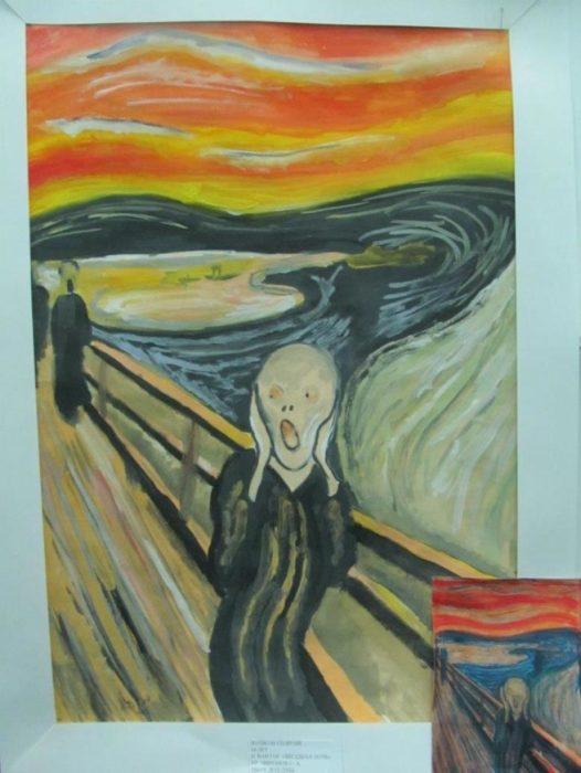 El grito pintado por un niño de 8 años