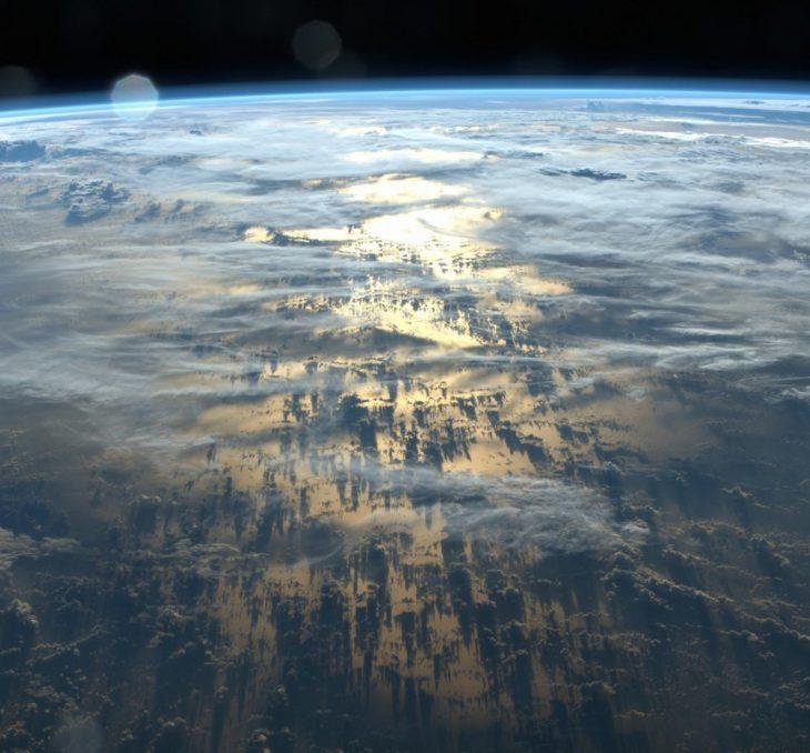 Nubes vistas desde el espacio