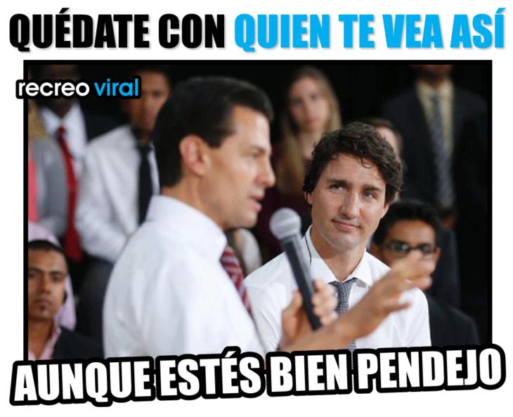 PRIMER MINISTRO DE CANADA HACIENDOLE CARAS A PEÑA NIETO