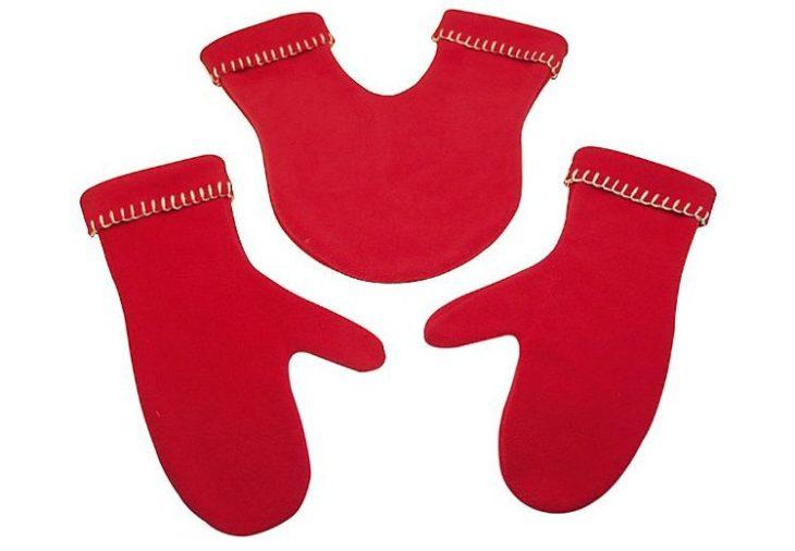 Guantes rojos con guante para compartir