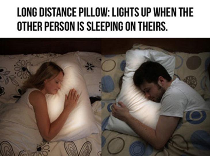 Almohada para parejas a larga distancia