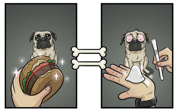 Hamburguesa un manjar para perros
