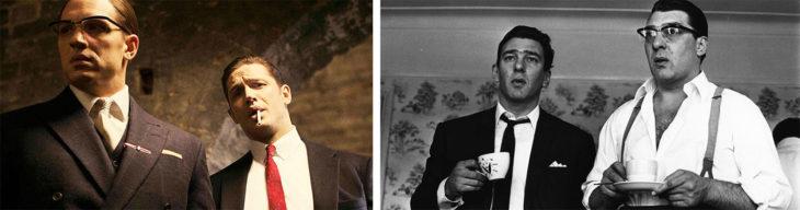 Gemelos fumando y tomando cafe