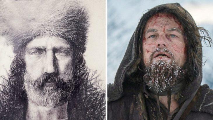 Foto del verdadero renacido y Leo quien lo personifica