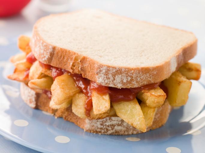 Sandwiches extraños. Sandwich con papas a la francesa