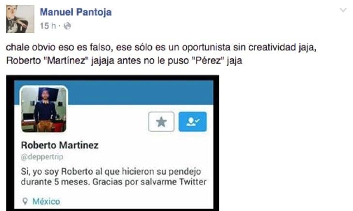 MANUEL PANTOJA DESCUBRIÓ QUE NO ERA EL ROBERTO